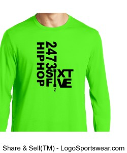 Sport-Tek Mens PosiCharge Long Sleeve Competitor Cotton Touch Tee Design Zoom